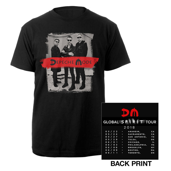 Photo/US Dates Black T-shirt-Depeche Mode