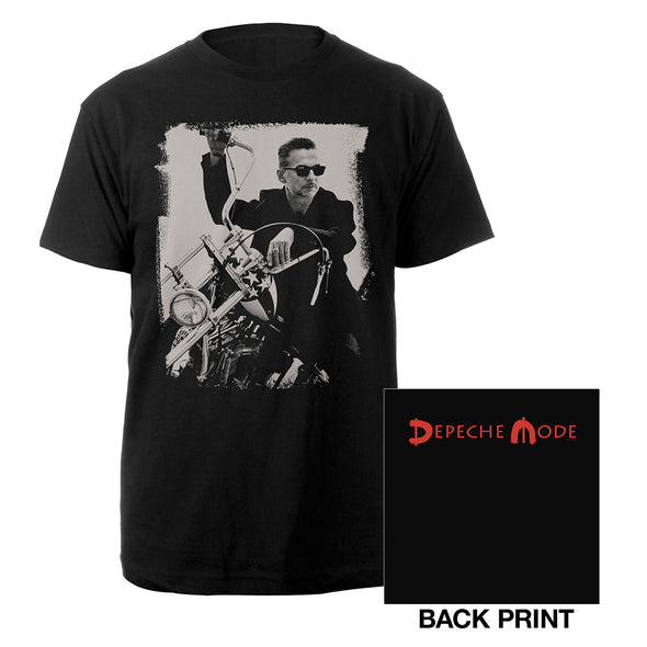 Dave Photo Black T-shirt-Depeche Mode
