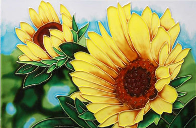 Sunflower Garden Ceramic Art