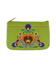 Load image into Gallery viewer, Embroidered Polska Flower Coin Pouch