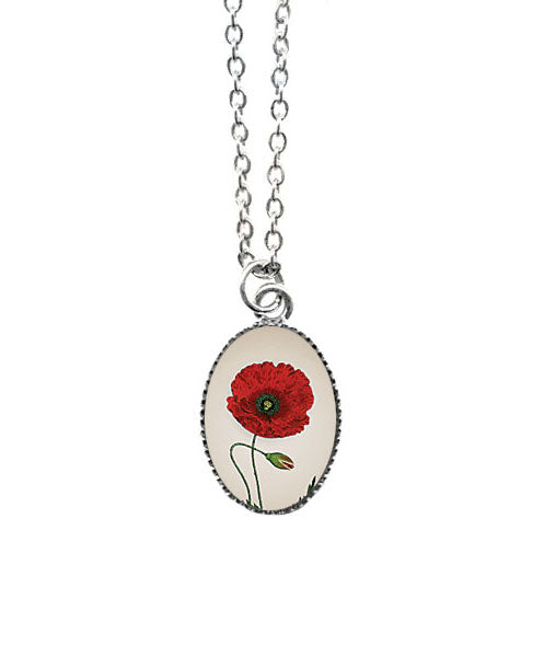 Dainty Poppy Necklace