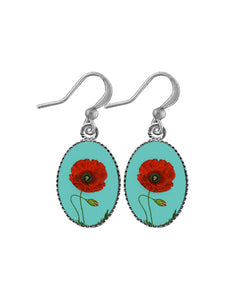 Dainty Poppy Earrings