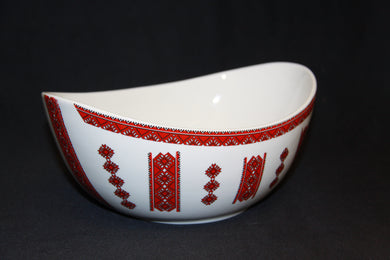 Large Oval Bowl 9