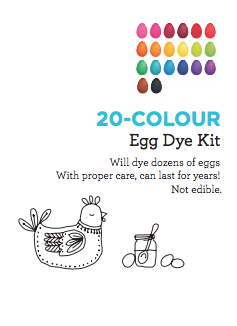 20 - Colour Eggshell Dye Kit