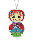 Load image into Gallery viewer, Matryoshka doll pendant long necklace
