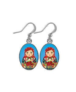 Dainty Pop Art Matryoshka Doll Earrings