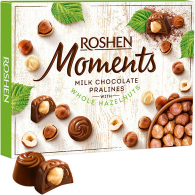 ROSHEN Moments Hazelnut Chocolates 116g Box