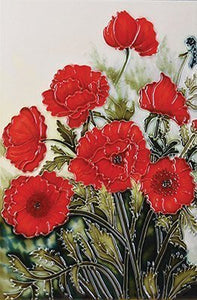 Classic Poppies Ceramic Art