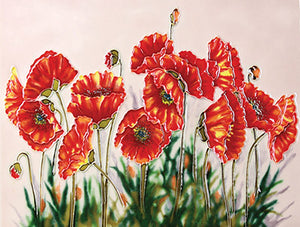 Poppy Garden Ceramic Art