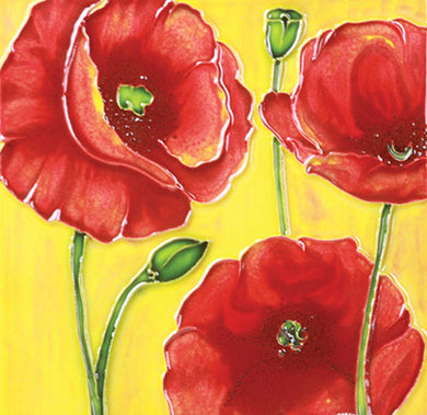 Poppy Trio Ceramic Art