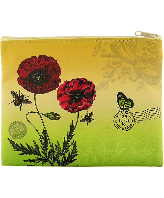 Red Poppy Makeup Pouch
