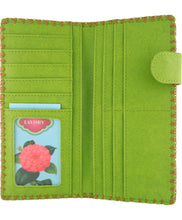 Load image into Gallery viewer, Large Embroidered Poppy Wallet