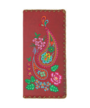 Load image into Gallery viewer, Paisley Pattern Embroidered Large Wallet