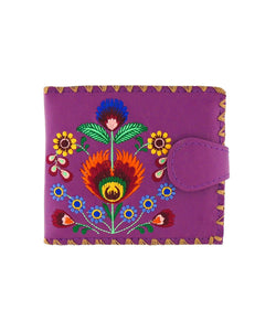 Polska Flower Embroidered Medium Wallet