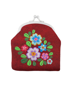 Garden Flower Kiss Lock Coin Purse