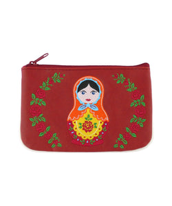 Matryoshka Doll Embroidered Small Pouch