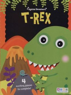 T-Rex Puzzle Book- 20 pc x 4