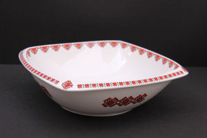large rounded square serving bowl