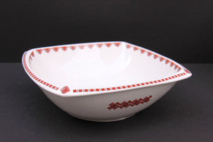 small rounded square serving bowl