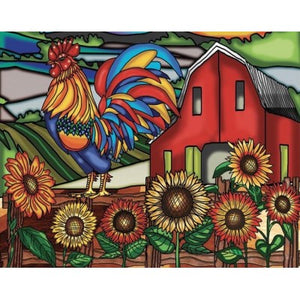 "Rooster 20"" x 16"""
