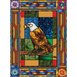 Stained Glass Eagle- 1000 PC