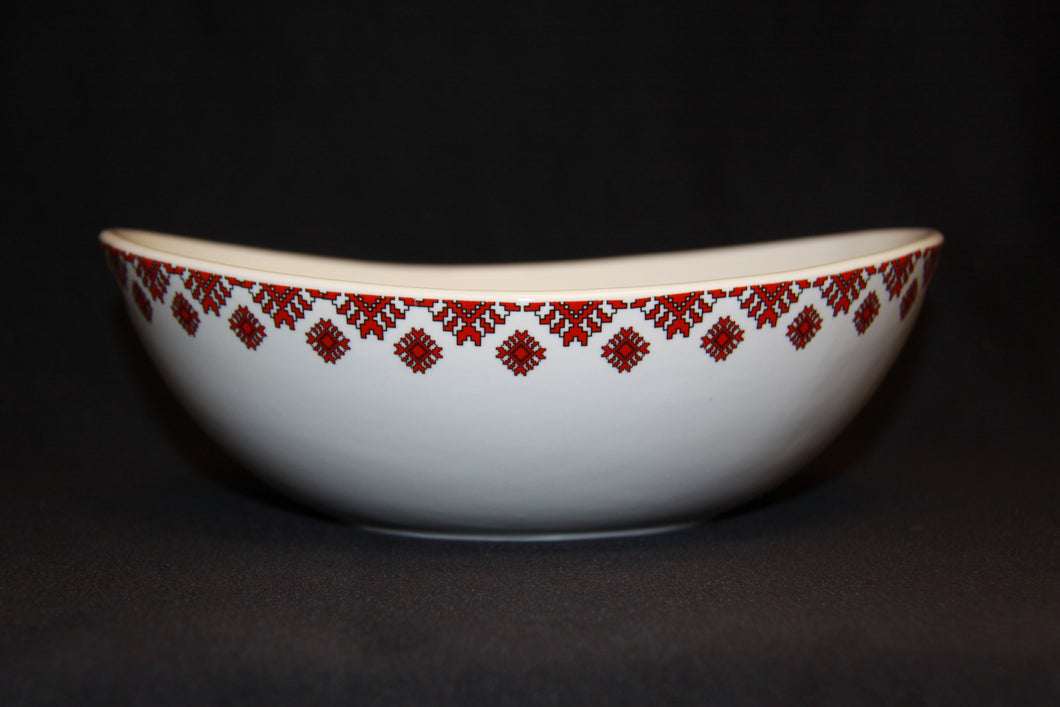 Round Wave Serving Bowl