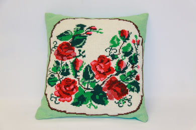 Traditional Ukrainian Embroidered Pillow