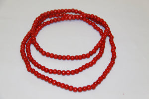 8mm Red Wood Beads