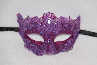 Lace Masquerade Mask Purple