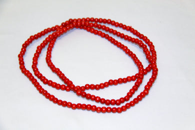 10mm Red Wood Beads