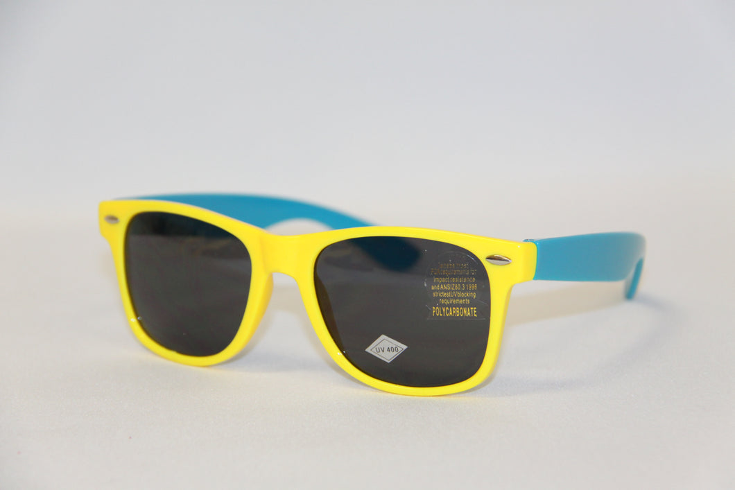 Blue and Yellow Sunglasses