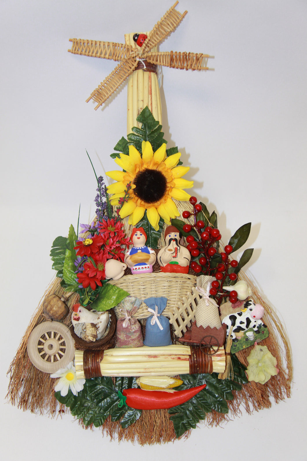 Large Windmill Broom Good Luck Charm