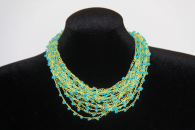 Airy Crochet Bead Necklace