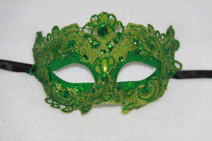 Lace Masquerade Mask Green