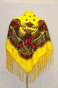 Traditional Gold Thread Hustka Yellow