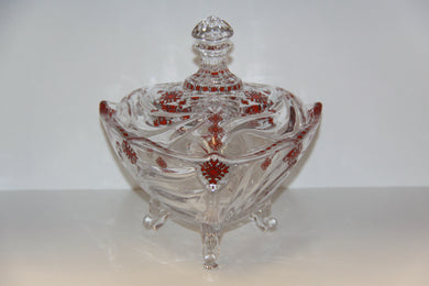 Crystalline Glass Bowl with Cover