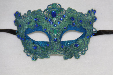 Lace Masquerade Mask Blue