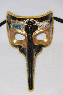 Masquerade Mask with Beak Black