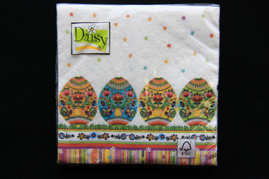 Polish Folk Egg Napkins 20pk
