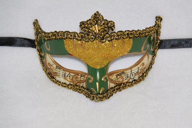 Music Masquerade Mask Green