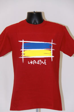 Sketch Ukraine T-Shirt- Red