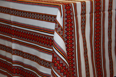 Woven Red & Gold Bulk Tablecloth (Sold by Metre)