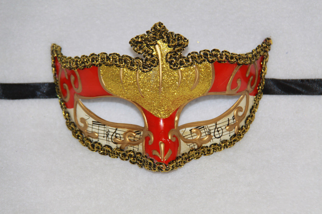 Music Masquerade Mask Red