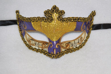 Music Masquerade Mask Purple