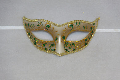 Masquerade Mask Green & Gold
