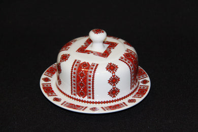 Round Covered Butter Dish