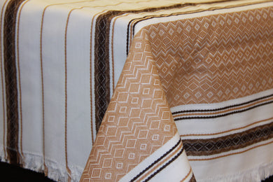 Brown Woven Tablecloth 56