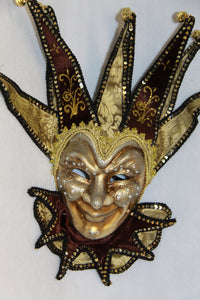 Jester Masquerade Mask Brown