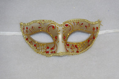 Masquerade Mask Red & Gold