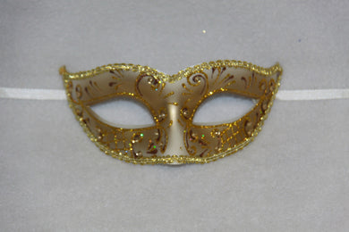 Masquerade Mask Brown & Gold